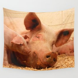 Sow and Piglets Wall Tapestry
