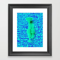 Lyrics & Type - Johnny Cash Framed Art Print