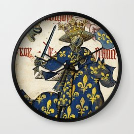 Golden Fleece King of France Wall Clock