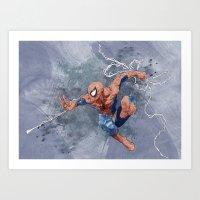 spider man Art Prints featuring Spider man by Alex Heuchert
