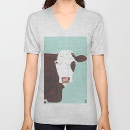 A Heifer Named Tribal Unisex V-Neck