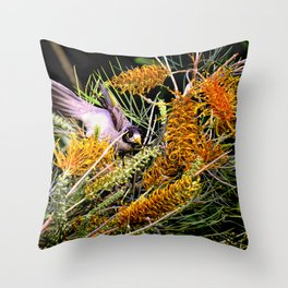 Dropping In For Lunch Throw Pillow