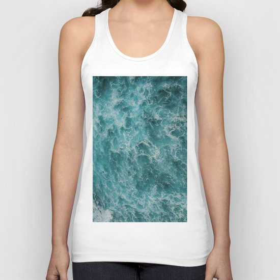 faded waves Unisex Tank Top