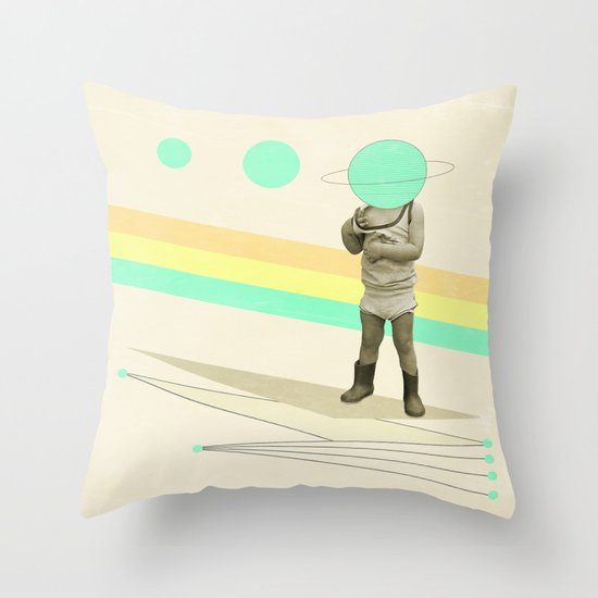 he believes he can fly Throw Pillow