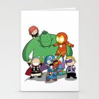 avenger Stationery Cards featuring The Baby Avenger-s by Vivalski
