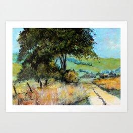 Barn Landscape  Art Print