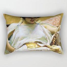 John William Waterhouse - Cleopatra - Digital Remastered Edition Rectangular Pillow