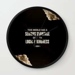 Logic and Kindness Wall Clock
