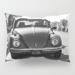 Hermosa Beach Surf Bug, Black and White Photography Print, Beach Art, South Bay Los Angeles Art Pillow Sham