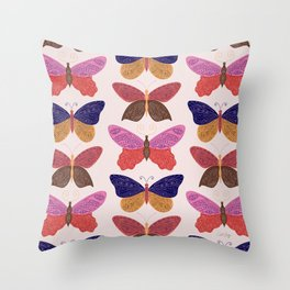 Tattooed Butterflies – Primary Palette Throw Pillow