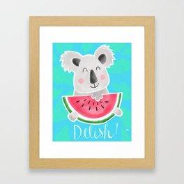 Delish! Hungry Koala Framed Art Print
