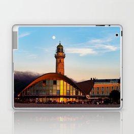 Seaside resort Warnemünde the moon says goodbye to the sun Laptop & iPad Skin