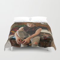 niall horan Duvet Covers featuring Niall Horan by behindthenoise