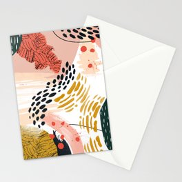 Artistic brush-strokes Stationery Cards