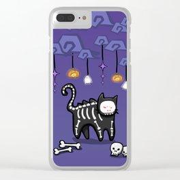 SkeletonCat Clear iPhone Case