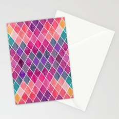 Watercolor Geometric Pattern Stationery Cards