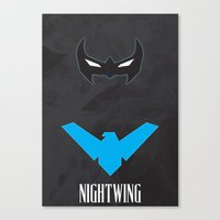 nightwing Canvas Prints featuring Nightwing by Gari Smith