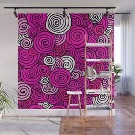 African Style No23, Pink dance Wall Mural