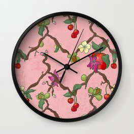 Cherries and Vine Wall Clock