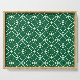 Crossing Circles - Fern Green Serving Tray