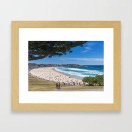 Bondi Beach looking north. Framed Art Print