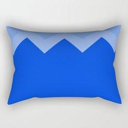 Geometric abstract - zigzag, blue. Rectangular Pillow