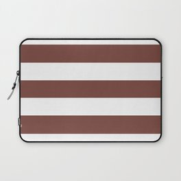 Bole - solid color - white stripes pattern Laptop Sleeve