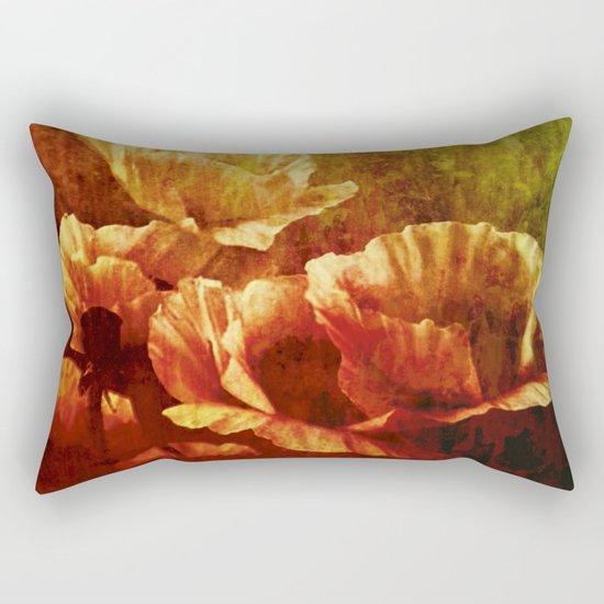 vintage poppies Rectangular Pillow