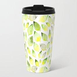 Watercolor leaves (sage) Travel Mug