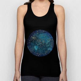 Star Map :: City Lights Unisex Tank Top