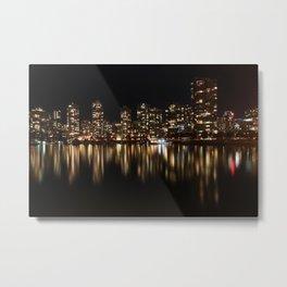Night Reflections of Yaletown Metal Print