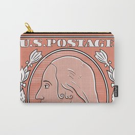 Vintage stamp USA Carry-All Pouch