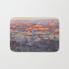 Grand Canyon Vintage Japanese Woodblock Print American Landscape Hiroshi Yoshida Bath Mat