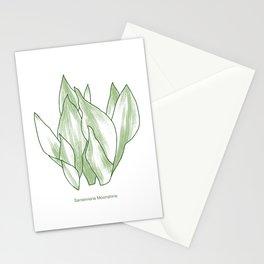Sansevieria Moonshine Snake Plant Hand Drawn Art Stationery Cards