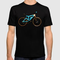 Mountain Bike Mens Fitted Tee Black LARGE