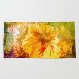 Nasturtuim Beach Towel