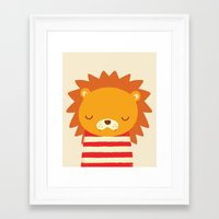 lion Framed Art Prints featuring Lion by UiNi