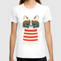 grumpy T-shirts featuring Grumpy meme cat  by UiNi