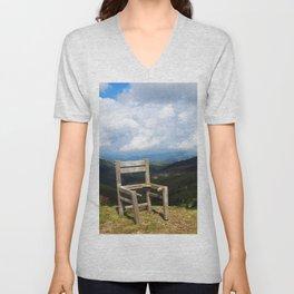 Mountain Chair I Photo made on the mountin Unisex V-Neck