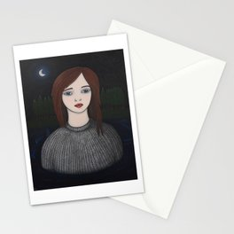 Girl in the Water Stationery Cards