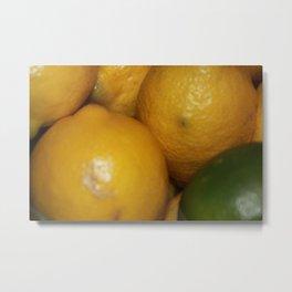 Lemons & a Lime Metal Print