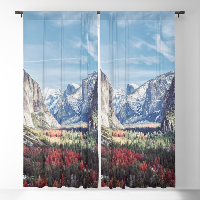 Tunnel View Yosemite Valley Blackout Curtain
