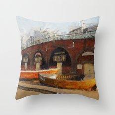 Brighton Boats Throw Pillow