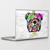 bulldog Laptop & iPad Skins featuring Bulldog by morganPASLIER