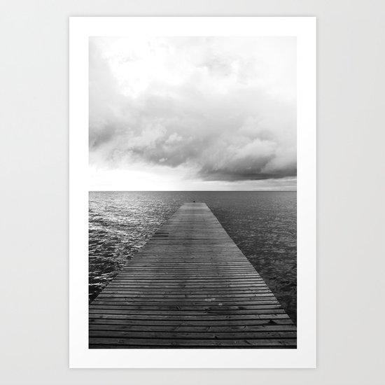 Seebrücke Art Print