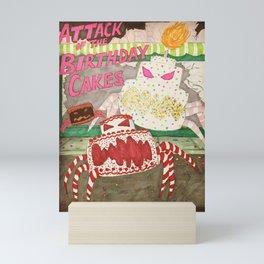 Attack of the Birthday Cakes Mini Art Print