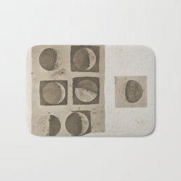 Five Diagrams of the Surface of the Moon; aquatint after Galileo Bath Mat