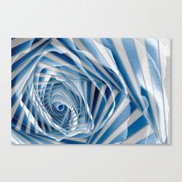 Blue Rose Spiral Canvas Print