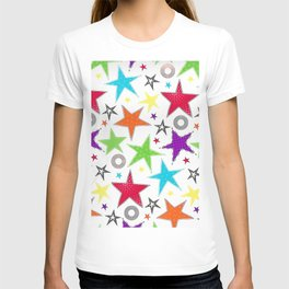 cute colourful stars T-shirt