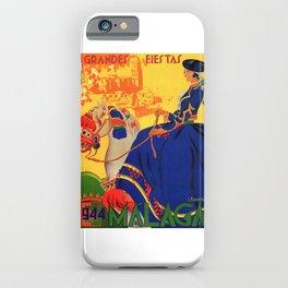 1944 Malaga Grandes Fiestas Spain Travel Poster iPhone Case